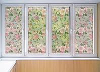 """Декоративная матовая пленка на окна и перегородки """"Роза"""" Zatarga от соседей, разделитель пространства"""