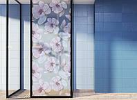 """Декоративная матовая пленка на окна и перегородки """"Розовые цветы"""" Zatarga от соседей, разделитель пространства"""