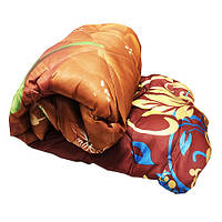 Одеяло атласное Lotus flower холлофайбер 175/210 шоколад растения