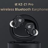 Беспроводные TWS наушники KZ-Z1 Pro bluetooth V 5.2 с динамическим драйвером 10 мм чип QCC3020, фото 3