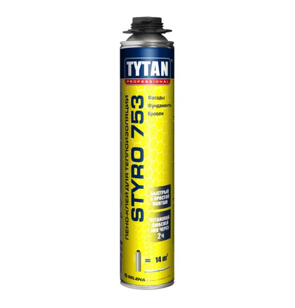 Tytan Styro 753 клей-піна для теплоізоляції під пістолет 750мл , купити в Києві