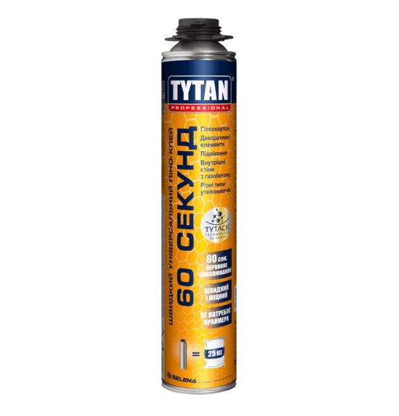 Клей-піна TYTAN PROFESSIONAL 60 секунд (Титан) 750мл під пістолет, купити в Києві