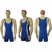 Трико борцовское тяжелоатлетические синее