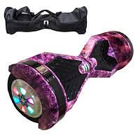Гироскутер Гироборд Smart Balance 8 дюймов фиолетовый космос розовый Гіроскутер Elite lux автобаланс