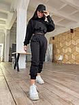 Молодіжний спортивний костюм жіночий з укороченим худі, фото 4
