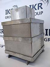 Форма для сыра из нержавеющей стали, квадратная 3-4 кг/ Форми для сиру із нержавіючої сталі 3-4 кг