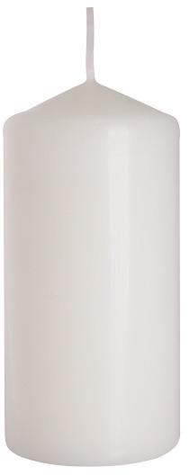 Свічка біла лакована 60х120 мм циліндрична