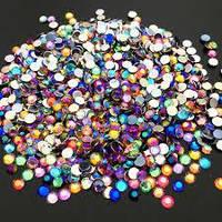 Стразы для дизайна ногтей 200 шт,1.5-3 мм,различных цветов
