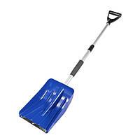 Лопата для снега телескопическая 252*335 мм L 850-1090 мм MASTERTOOL