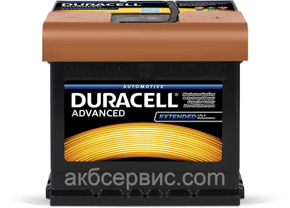 Аккумулятор автомобильный Duracell UK012 Advanced (DA50)