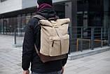 Роллтоп рюкзак мужской DEZERT из брезента canvas WLKR, фото 2