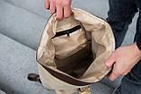 Роллтоп рюкзак мужской DEZERT из брезента canvas WLKR, фото 8