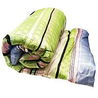 Одеяло атласное Lotus flower холлофайбер 175/210 салатовое геометрические фигуры
