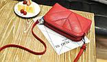 Женская сумка бордовая код 3-458, фото 3