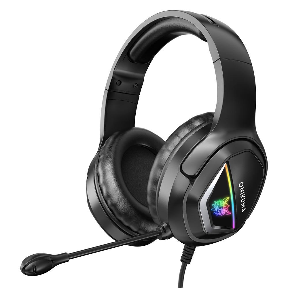 Ігрові навушники ONIKUMA K8 Camouflage Green з мікрофоном і LED RGB підсвіткою, геймерські, ігрові навушники