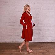 Комплект 3в1 халат, ночнушка, пижама в роддом/для кормления