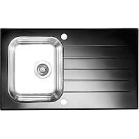 Кухонная мойка Alveus Glassix 10 черное стекло 1099450