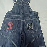 Комбинезон демисезонный джинсовый модный оригинальный красивый синего цвета., фото 3