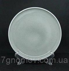 Тарелка керамическая бежево-серая Мрамор 21.5 см