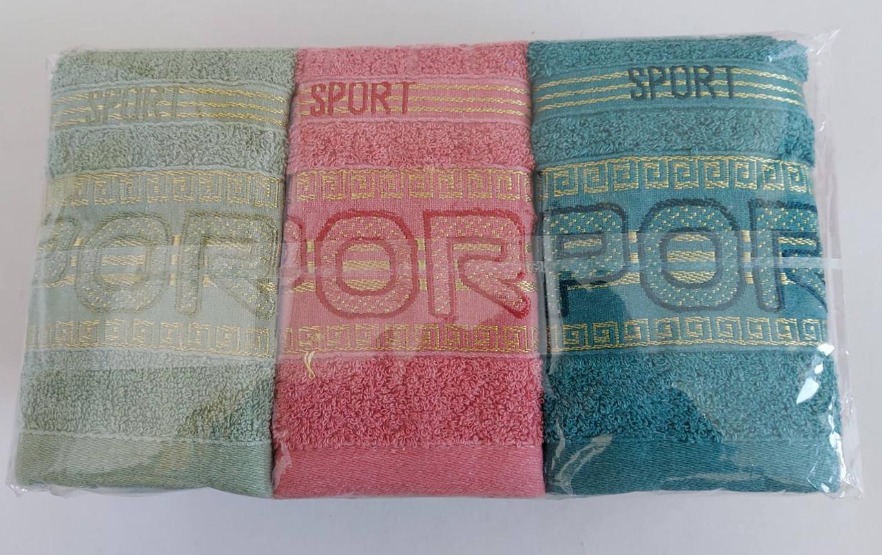 Махровые полотенца для рук «Спорт» 35*75 см (10 шт)