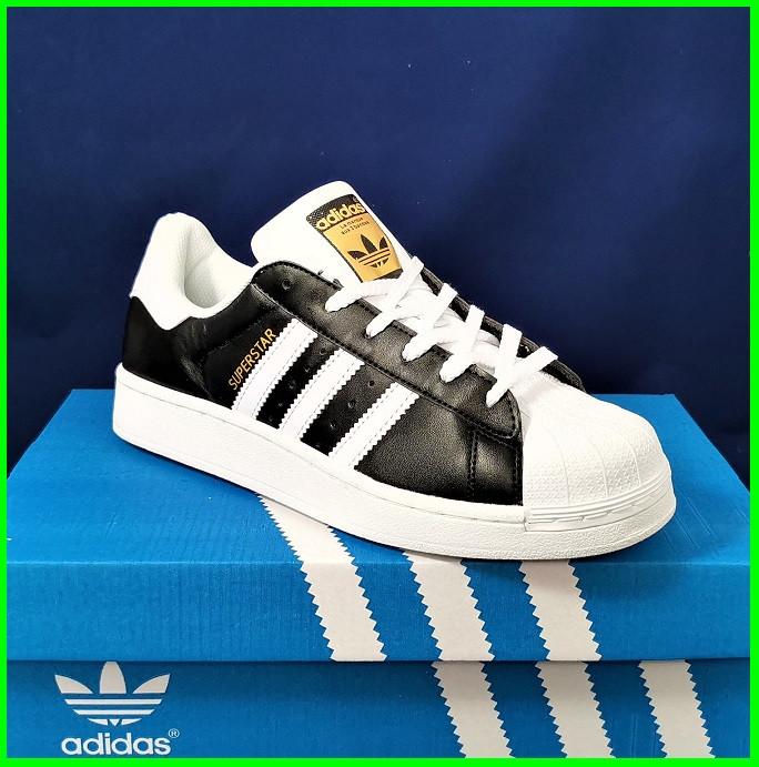 Кросівки Adidas Superstar Чорні Чоловічі Адідас Суперстар (розміри: 41,42,43,44,45) Відео Огляд