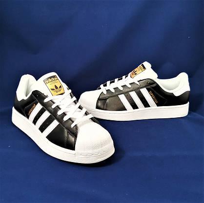 Кросівки Adidas Superstar Чорні Чоловічі Адідас Суперстар (розміри: 41,42,43,44,45) Відео Огляд, фото 2