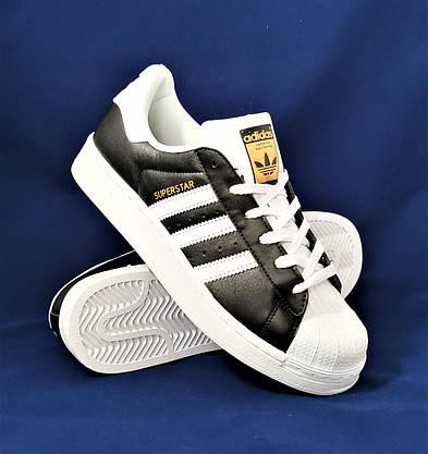 Кросівки Adidas Superstar Чорні Чоловічі Адідас Суперстар (розміри: 41,42,43,44,45) Відео Огляд, фото 3