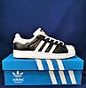 Кросівки Adidas Superstar Чорні Чоловічі Адідас Суперстар (розміри: 41,42,43,44,45) Відео Огляд, фото 4