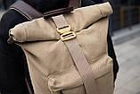 Роллтоп рюкзак мужской DEZERT из брезента canvas WLKR, фото 4