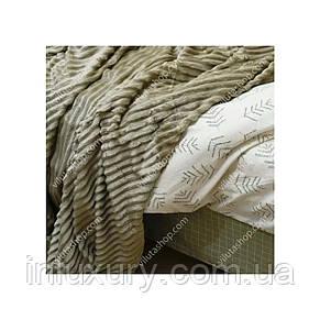 Плед-покрывало Велсофт Line Песочно-оливковый арт.172113, фото 2