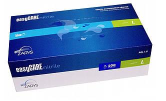 Перчатки нитриловые неопудренные EasyCare NITRILE BLUE (синие) L