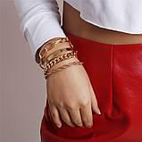 Набор женских золотистых браслетов на руку код 2000, фото 2