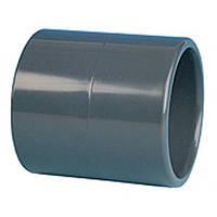 Муфта ПВХ ERA соединительная, диаметр 32 мм.