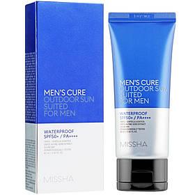 Солнцезащитный мужской крем Missha Men's Cure Outdoor Sun Suited For Men SPF50+/PA++++ (8809581460249)