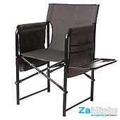 Кресло складное Vitan Режиссерский с полкой 25 мм (серый меланж)