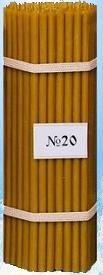 Свічки воскові церковні №20 110 штук упаковка