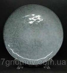 Набор 6 больших обеденных керамических тарелок Гранит 27 см