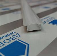 Профиль светодиодный врезной №19 алюминиевый с матовым расевателем комплект 2 метра