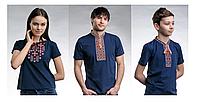 Комплект вышиванок для семьи, Семейный набор футболок вышиванок