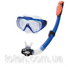 Набір для плавання Intex 55962 маска XXL, (14+), обхват голови ≈ 59 см, трубка