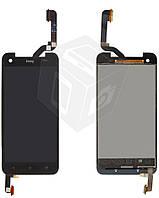 Дисплейный модуль (дисплей + сенсор) для HTC Butterfly X920d, черный, оригинал