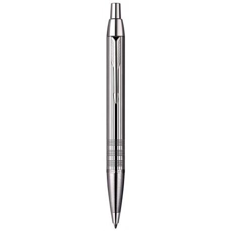 Ручка кулькова Parker IM Premium Shiny Chrome Chiselled BP в подар.уп. PXMAS19 20 432Cb19