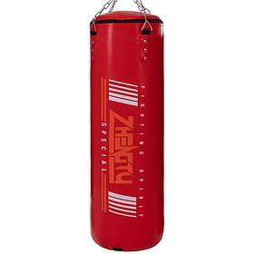 Мешок боксерский Цилиндр с кольцом и цепью PVC h-100см ZHEGTU BO-2336-100 (d-29см, цвета в ассортименте)