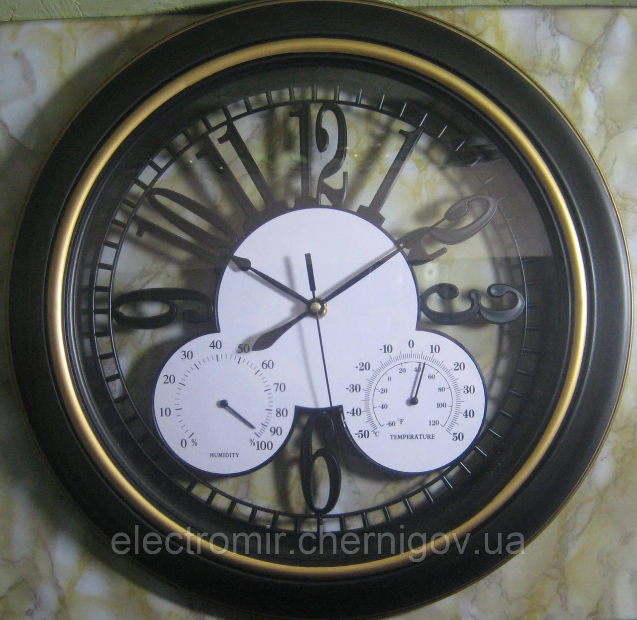 Годинники настінні з барометром RL-1618 (40 см діаметр)