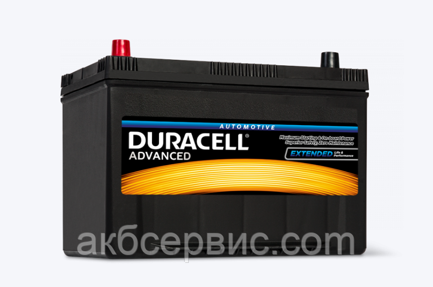 Аккумулятор автомобильный Duracell 6СТ-95 Аз 740A (DA95L)
