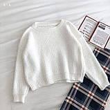 Женский стильный, мягкий, шерстяной свитер, фото 2