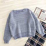Женский стильный, мягкий, шерстяной свитер, фото 3