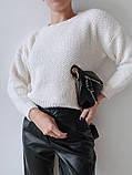 Женский стильный, мягкий, шерстяной свитер, фото 4