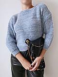 Женский стильный, мягкий, шерстяной свитер, фото 7