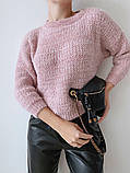 Женский стильный, мягкий, шерстяной свитер, фото 10